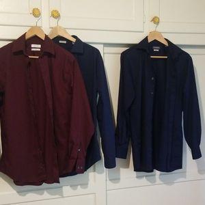 3 LONG sleeved shirts